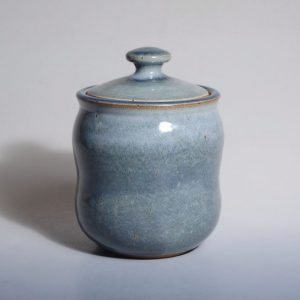 Lidded jar with waist
